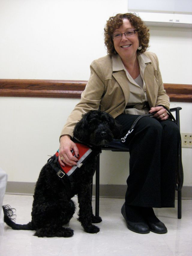 Tobi with Dr. Mary Tobin
